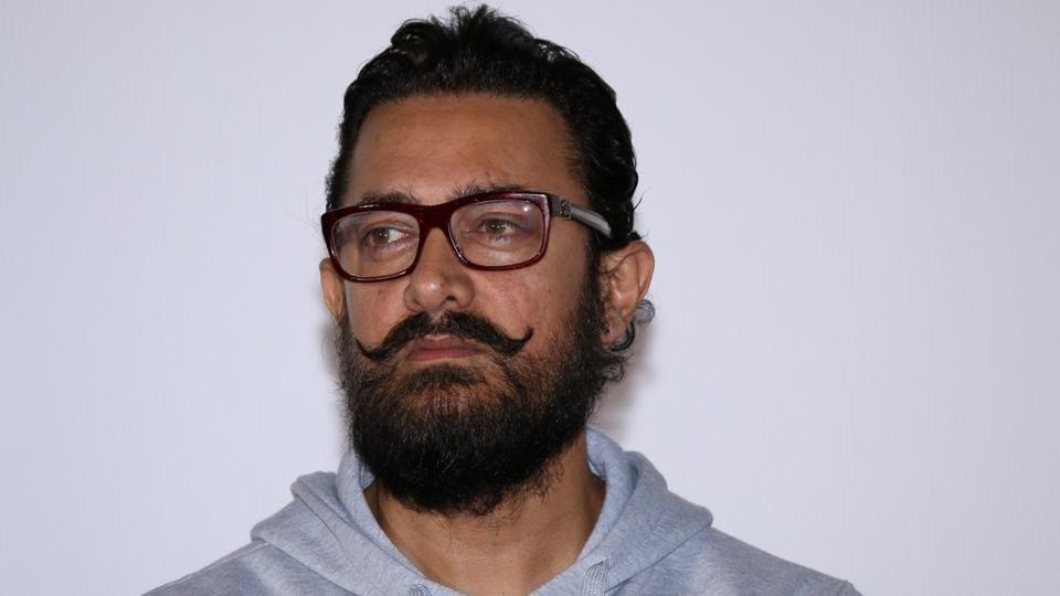 Aamir Khan during the teaser launch of film Secret Superstar in Mumbai.
