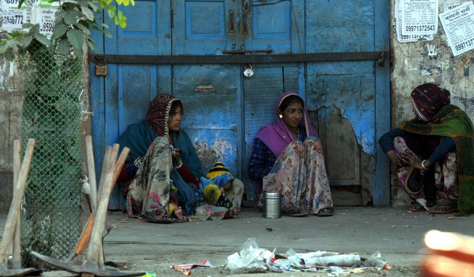 Daily wage workers are waiting for work at labour chowk, in Gurgaon. Demonetisation has hit business in the second part of the third quarter (October-December) and could affect business in the next quarter (January-March) too. The government needs to address this and the budget is a good platform to do so