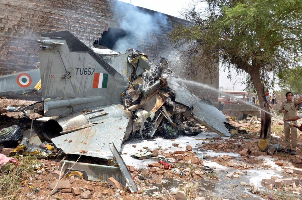 Piles of garbage within a 1-2 km radius of the air force station at Nal, about 15 km from Bikaner, raise fears of accidents to fighter planes as birds hover over the place.