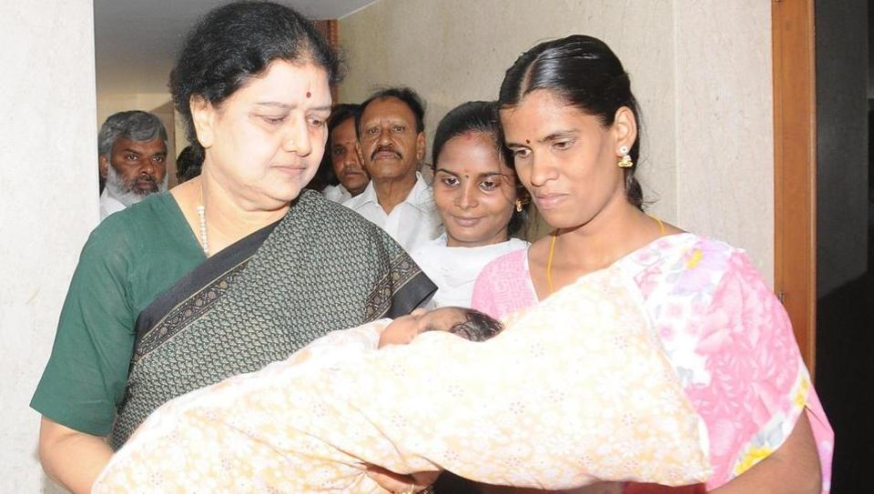 Sasikala named the child 'Jayalalithaa' after the former chief minister at the Poes Garden residence in Chennai.