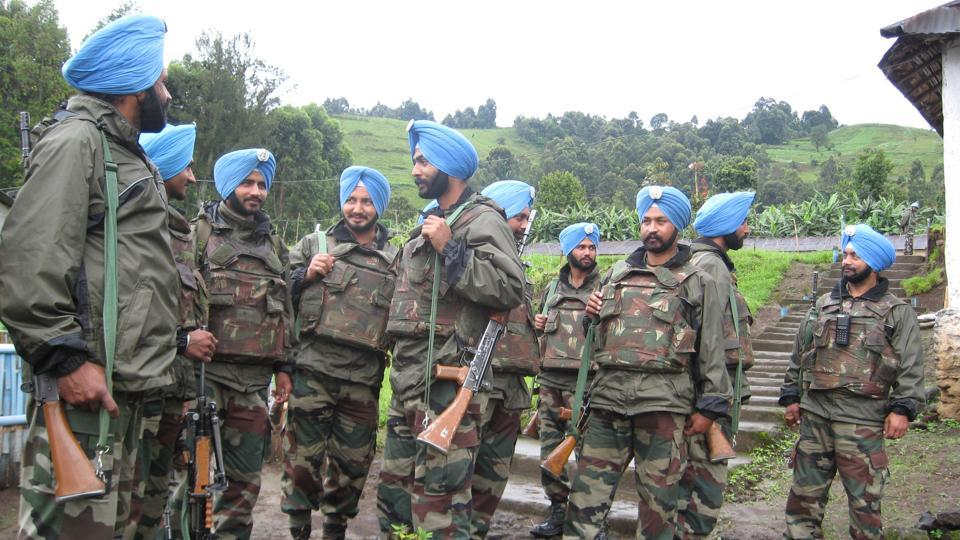 Indian peacekeepers in the Democratic Republic of Congo in 2008. In the crisis-ridden country, Lt Gen Bipin Rawat adopted an effective iron fist strategy and scripted a remarkable turnaround for the mission.