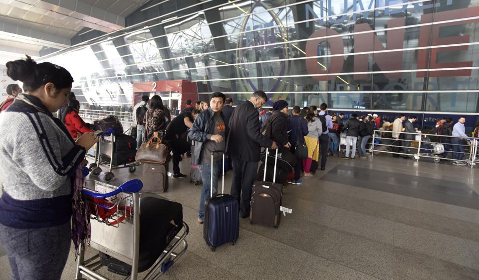 The scanner has been installed at Delhi airport.