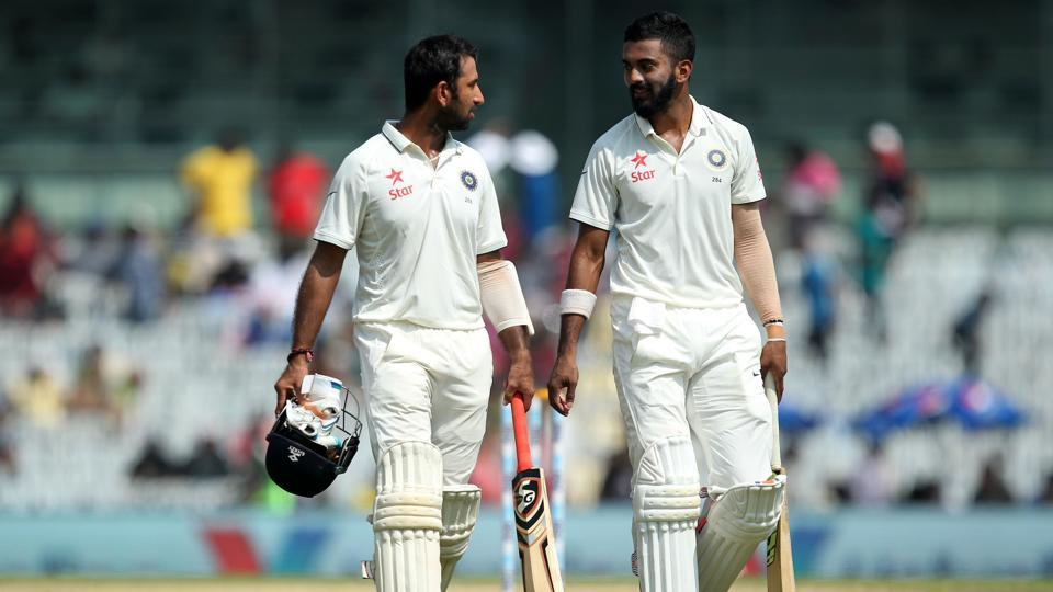 Both KL Rahul and Parthiv Patel strung together a 152-run opening stand for the opening wicket. (BCCI)