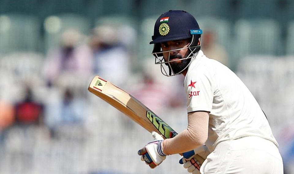 KLRahul, who played his first eight Tests outside the country reached his century in the post-lunch session during day 3 of the India vs England Chennai Test.