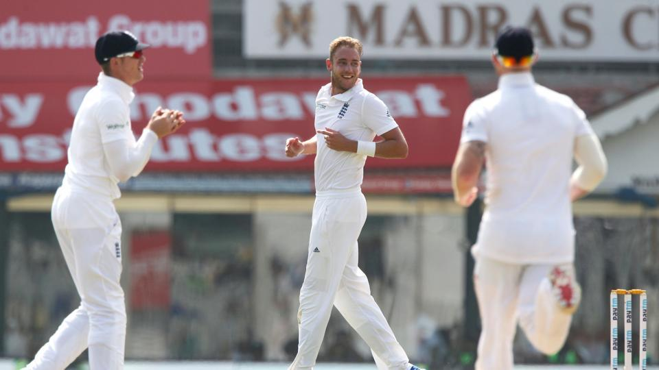 Stuart Broad got the big wicket of Virat Kohli for 15 as England continued to make inroads. (BCCI)