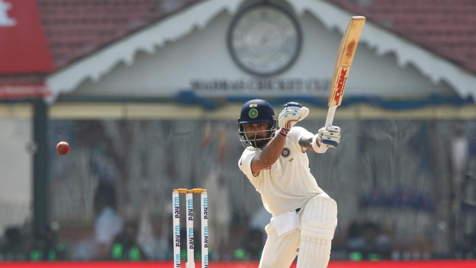 Virat Kohli was dismissed for under 40 for the first time in the series. (BCCI)