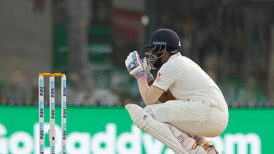 Towards stumps, disaster struck Rahul as he played a rash shot to be dismissed on 199. (BCCI)