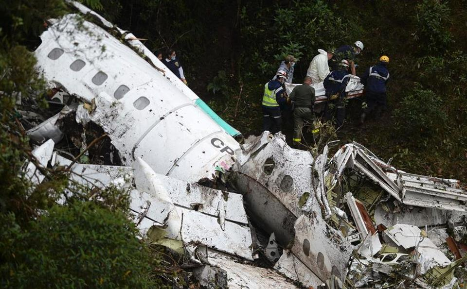 The LaMia airlines plane slammed into the mountains outside Medellin, Colombia on November 29, killing most of Brazilian football team Chapecoense Real as they travelled to a match.