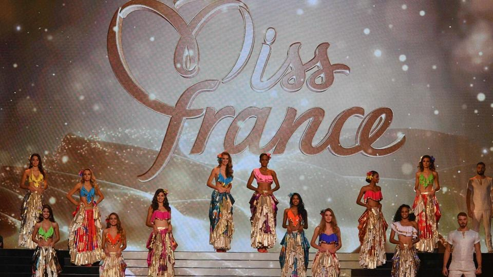 Contestants on stage during the Miss France 2017 beauty contest in Montpellier, France.  (AFP)
