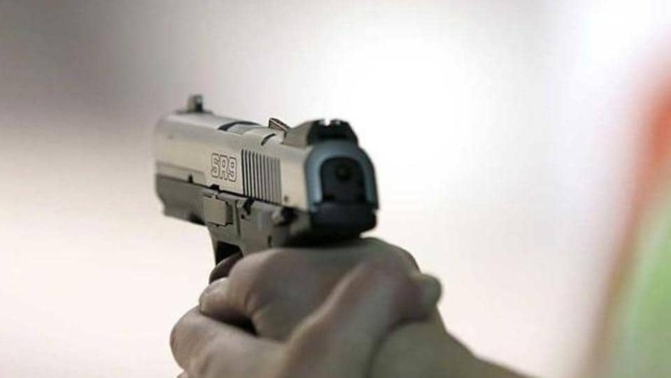 An altercation ended with the security guard opening fire at the students with his 12-bore gun.