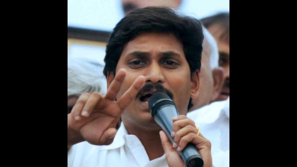 File photo of YSR Congress chief Y S Jagan Mohan Reddy.