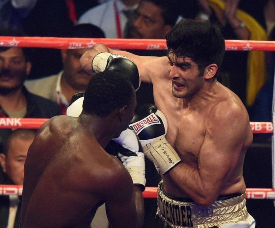 Vijender Singh defeated Tanzania's former boxing world champion Francis Cheka to defend his Super Middleweight title on Saturday.