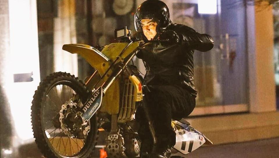 Thala 57 Actor Ajith Wows Fans With Bike Stunt Watch Video