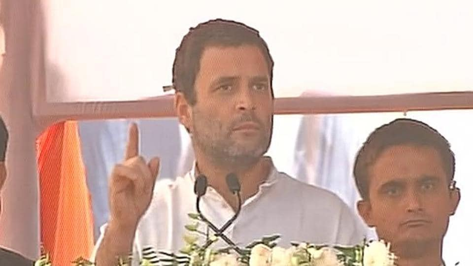Congress vice president addresses a rally in Jaunpur, UP.