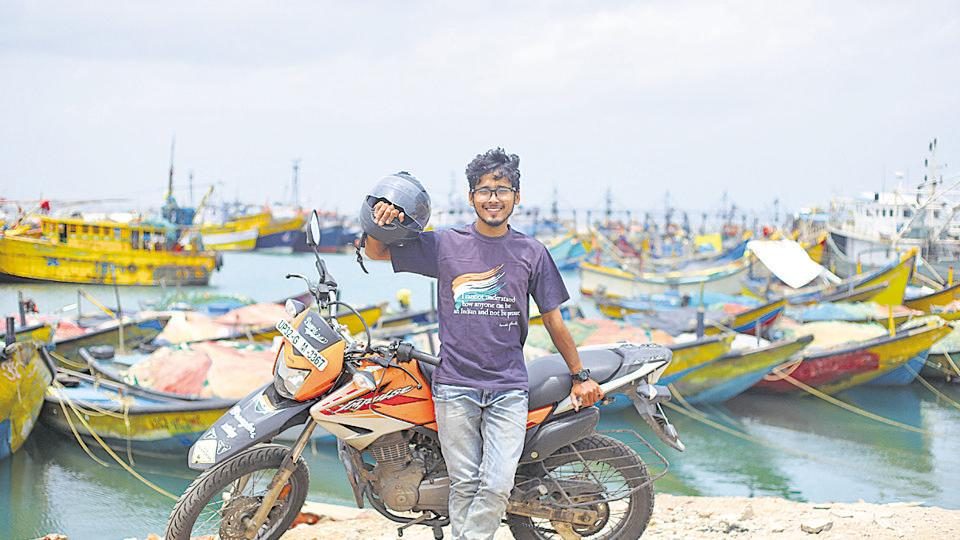 Gaurav Siddharth has been on a bike tour for the last 14 months.