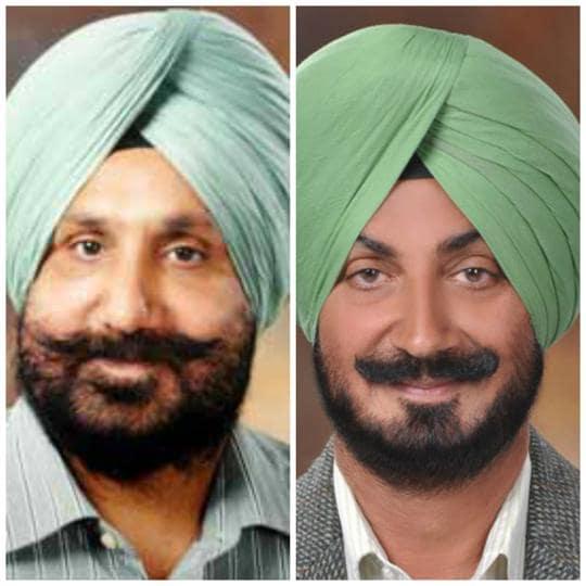 Sukhjinder Singh Randhawa and (right) Inderjit Singh Randhawa