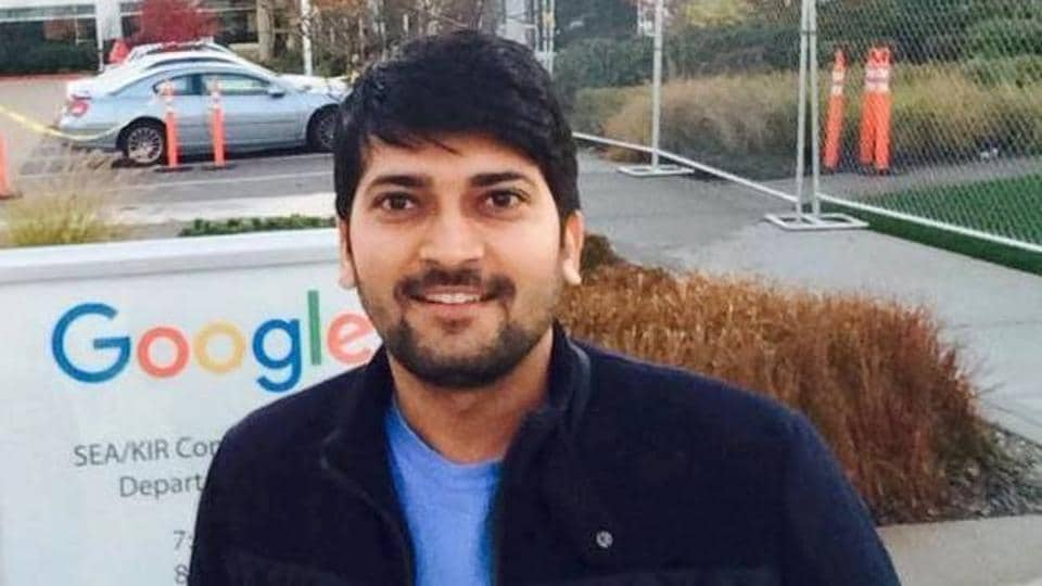Ram Chandra outside Google office in Seattle.