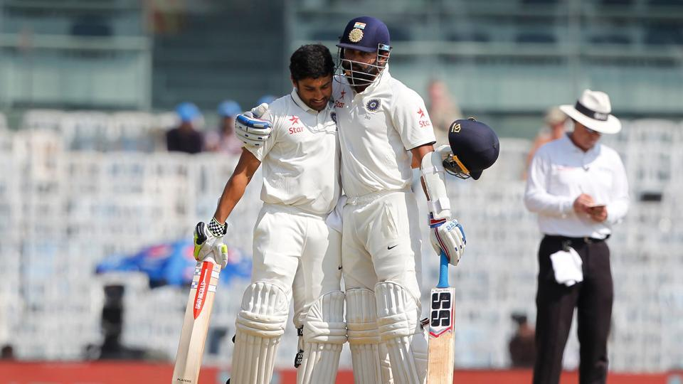 It summed up a great day for Karun Nair as India set about to build their advantage over England. (BCCI)