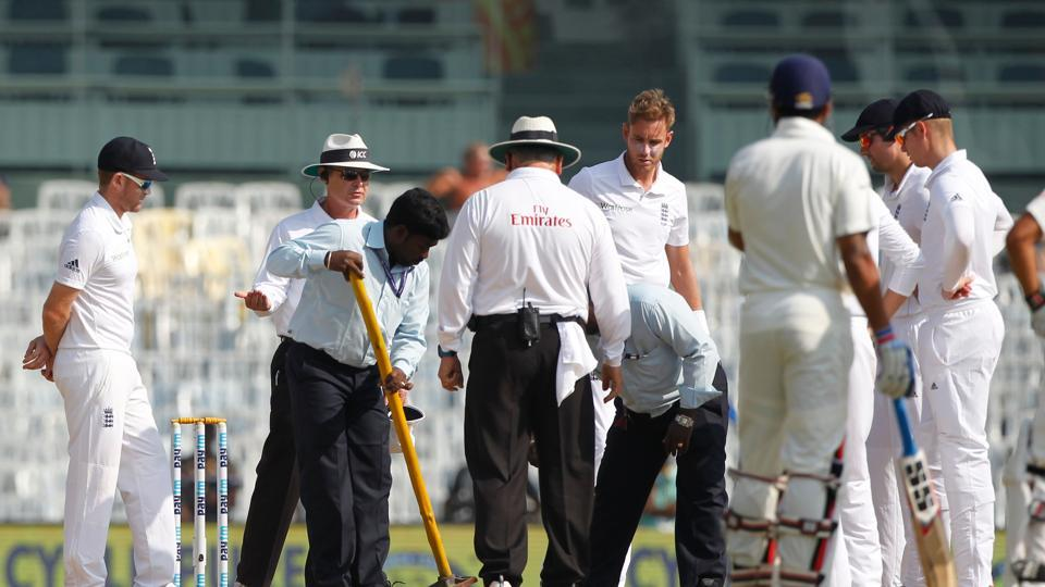 England started off the session needing quick wickets but they were troubled by some soft patches near the bowler's popping crease. (BCCI)