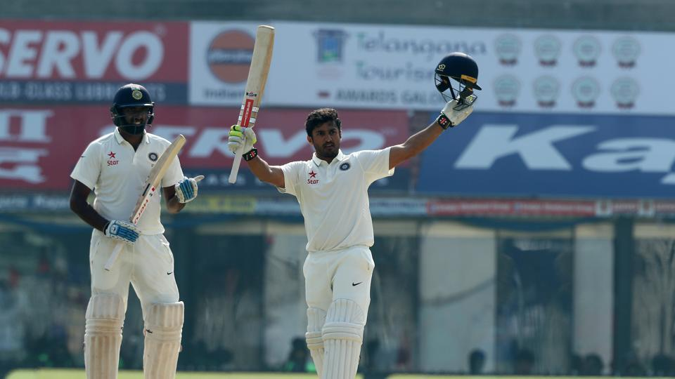 Karun Nair made up for his early failures as he broke several records on day 4 in Chennai. (BCCI)
