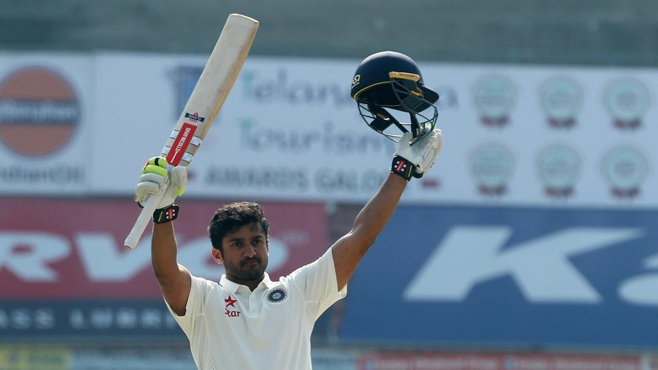 Karun Nair made up for his failure in the Mohali and Mumbai Test to convert his maiden century into a big score. (BCCI)
