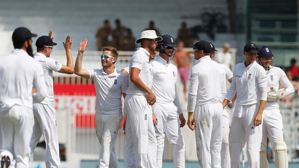 Liam Dawson picked up his first wicket by dismissing Murali Vijay as England enjoyed some rare good moments. (BCCI)