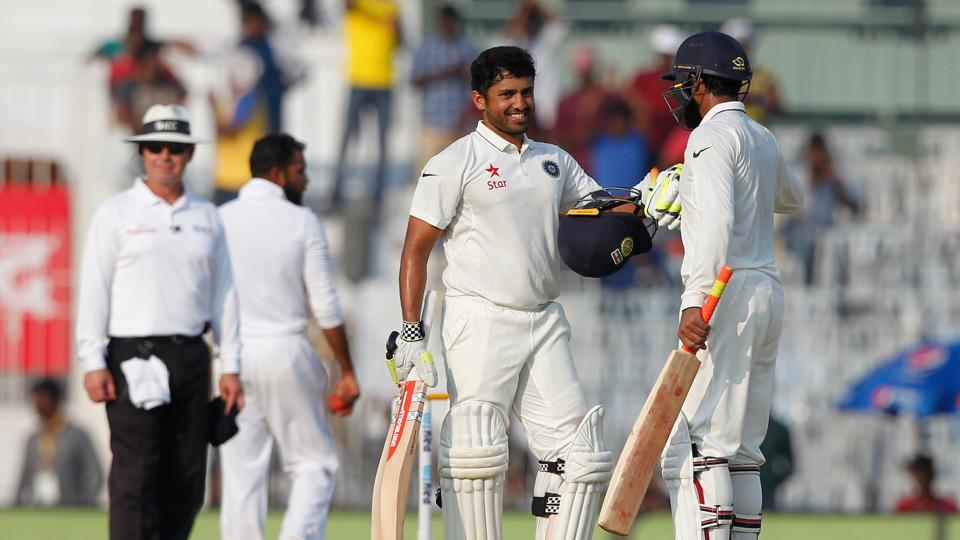 Karun Nair notched up the third highest individual score by an Indian in Tests, only behind Virender Sehwag's 309 and 319. (BCCI)