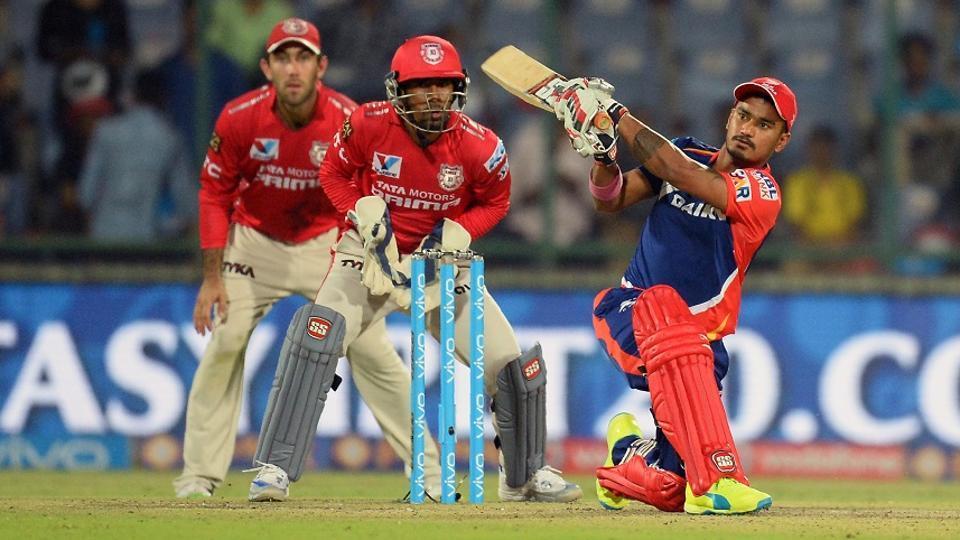 Delhi Daredevils batsman Pawan Negi plays a shot during a 2016 Indian Premier League match against Kings XI Punjab at the Feroz Shah Kotla Stadium in New Delhi on April 15, 2016
