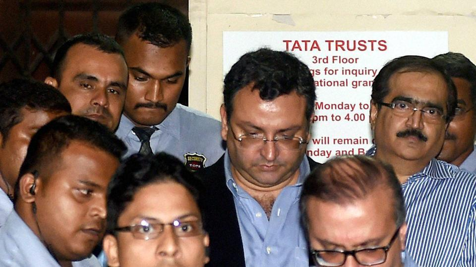 Ousted chairman of Tata Sons, Cyrus Mistry, leaves the Bombay House in Mumbai.