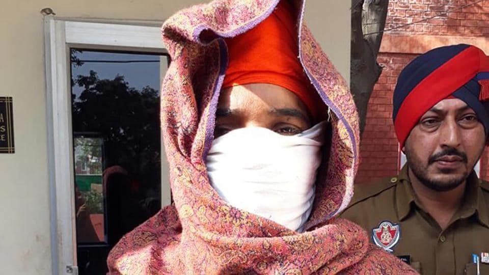 One of the two accused, Nirmal Kaur, after her arrest in Amritsar on Sunday.
