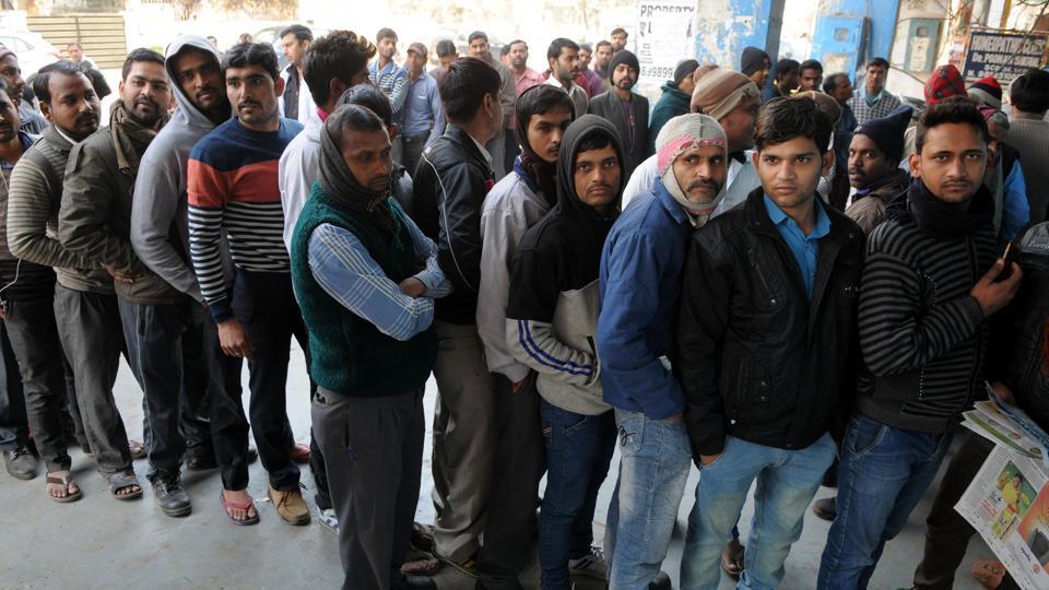 Delhi,Bank queues,Demonetization