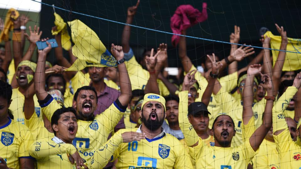 The atmosphere at the Jawaharlal Nehru Stadium in Kochi was electric, with most of the 54000 fervent fans shouting hoarse in support of home team Kerala Blasters. (AFP)
