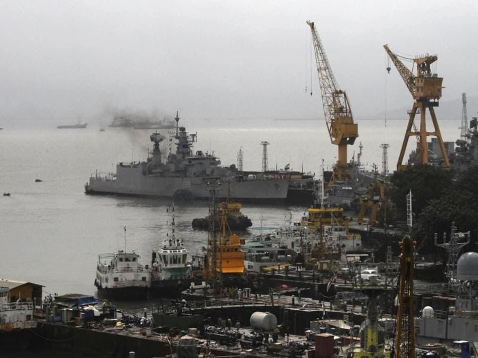 A view of the Mumbai naval dockyard. A retired naval commander has been booked for cheating a man on the pretext of a job offer at the dockyard.