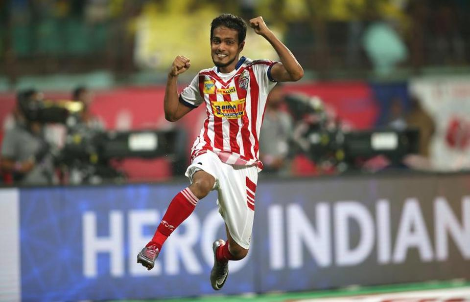 Jewel Raja Shaikh scored the winning penalty as Atletico de Kolkata beat Kerala Blasters FC to win the IndianSuper League at the Jawaharlal Nehru Stadium in Kochi on Sunday.