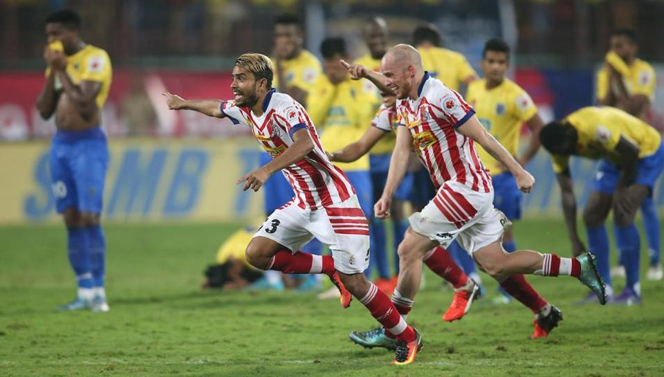 The victory meant two ISL titles for Atletico de Kolkata in three years, and as many heartbreaks for Kerala Blasters who fell short again. (Shaun Roy / ISL / SPORTZPICS)