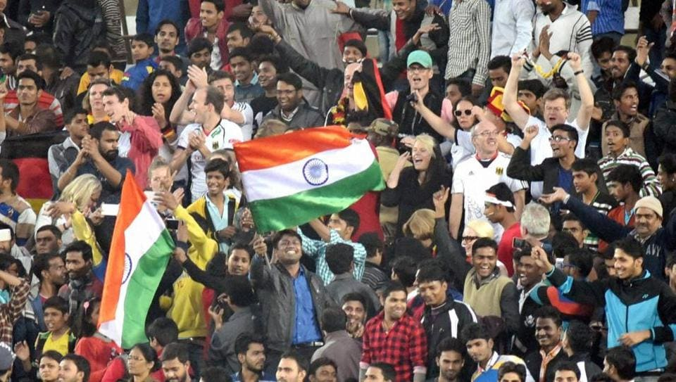 The jam-packed Dhyan Chand National Stadium spurred Indians to dominate from the get go. (PTI)