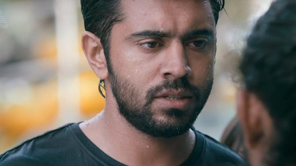 Nivin Paul in a still from his 2014 romantic comedy film, Ohm Shanthi Oshaana.