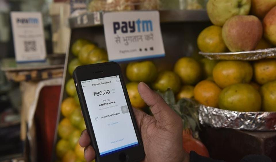 Small vendors on street sides are accepting PayTM as a mode of payment post demonetisation in New Delhi.