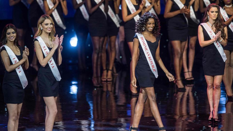 Miss Dominican Republic Yaritza Miguelina Reyes Ramirez. (Zach Gibson/AFP)