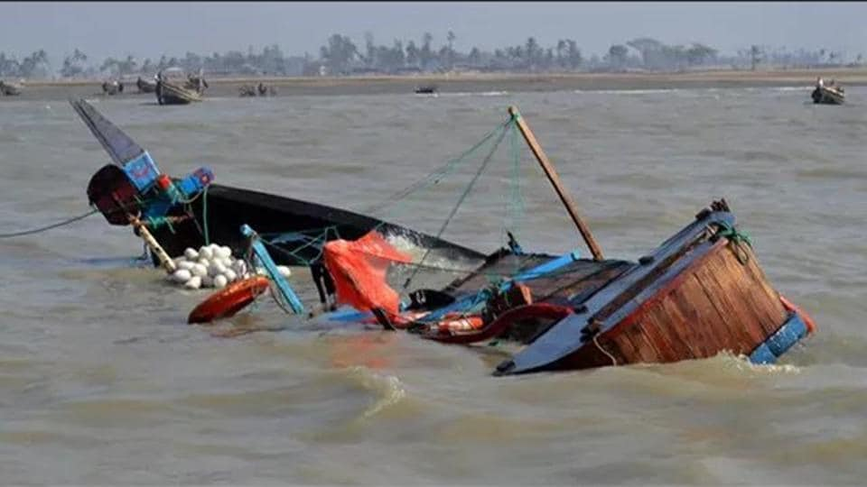 Eleven crew members went missing after their fishing boat collided with a merchant ship and capsized off east China coast early on Tuesday.