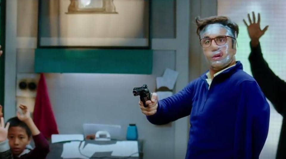 Ranbir Kapoor in a still from Jagga Jasoos.