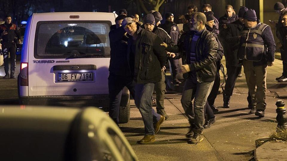 Turkish police detained a man who fired shots into the air outside the US embassy in Ankara.
