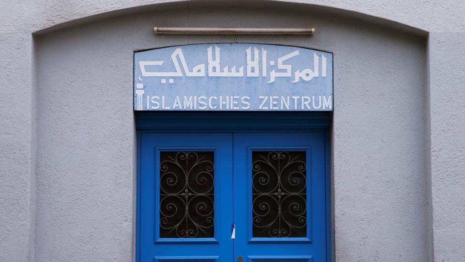 The entrance of the Islamic centre, which was attacked by a gunman, is seen in central Zurich, Switzerland December 20.