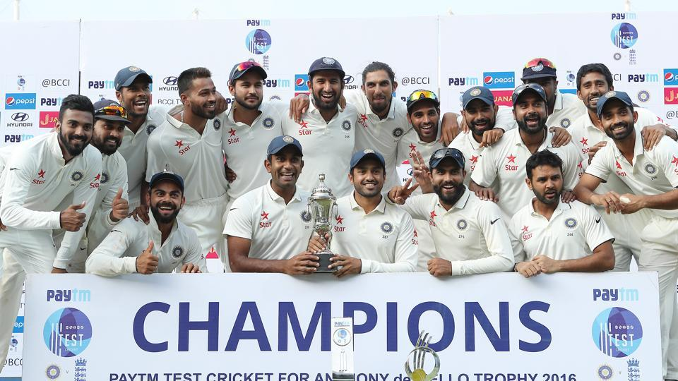 India defeated England by an innings and 75 runs in the Chennai Test to clinch the series 4-0 against England (BCCI)