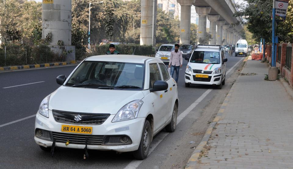 More than 50,000 cabs and taxis ply in Gurgaon and nearby areas daily.