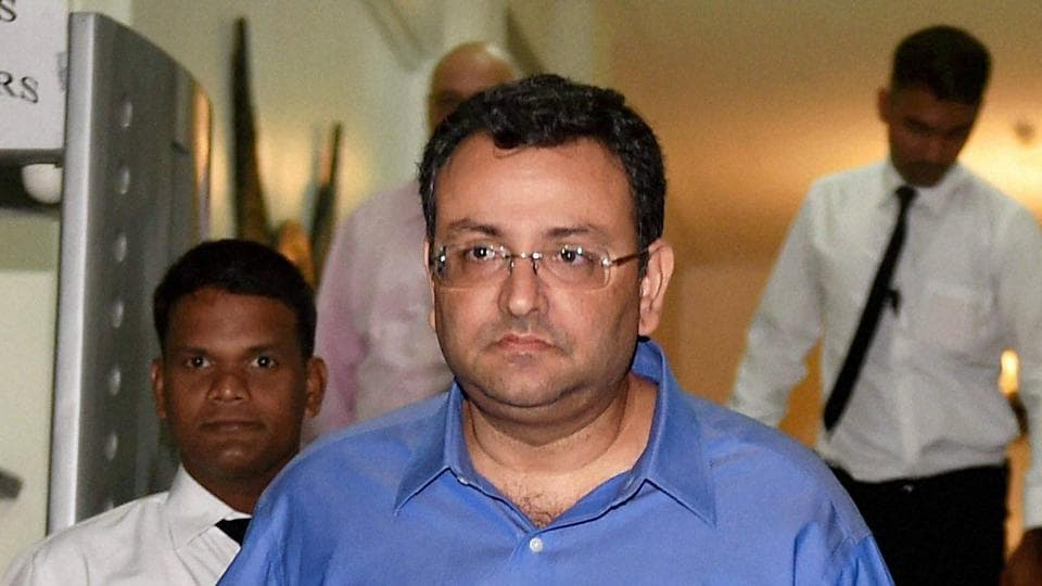 Ousted Tata Sons chairman, Cyrus Mistry, leaves after a meeting at Bombay House in Mumbai on Monday.
