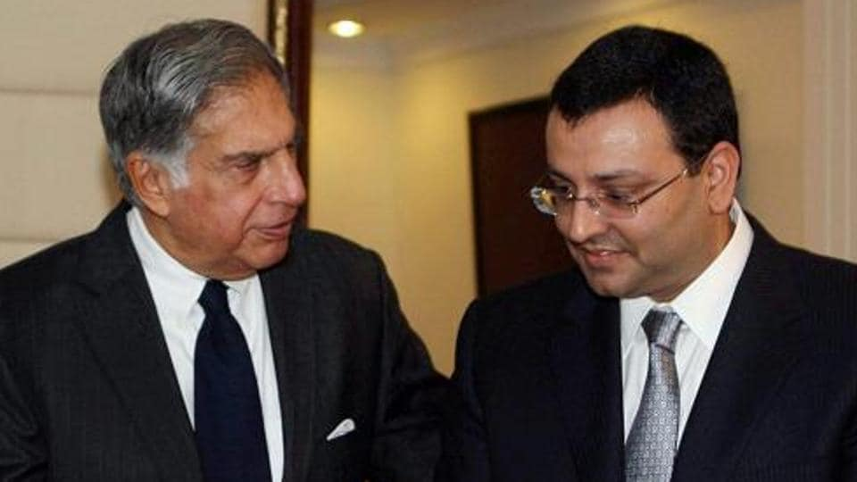 File photo of Ratan Tata with Cyrus Mistry