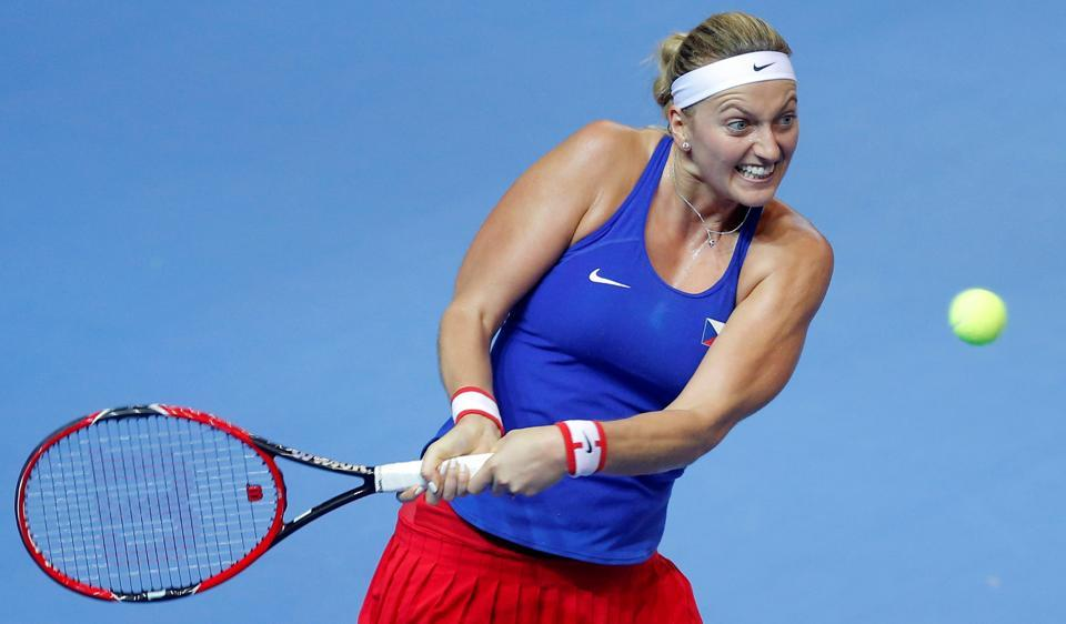 Petra Kvitova was injured after an attack by a knife-wielding burglar at her home in the eastern Czech town of Prostejov.