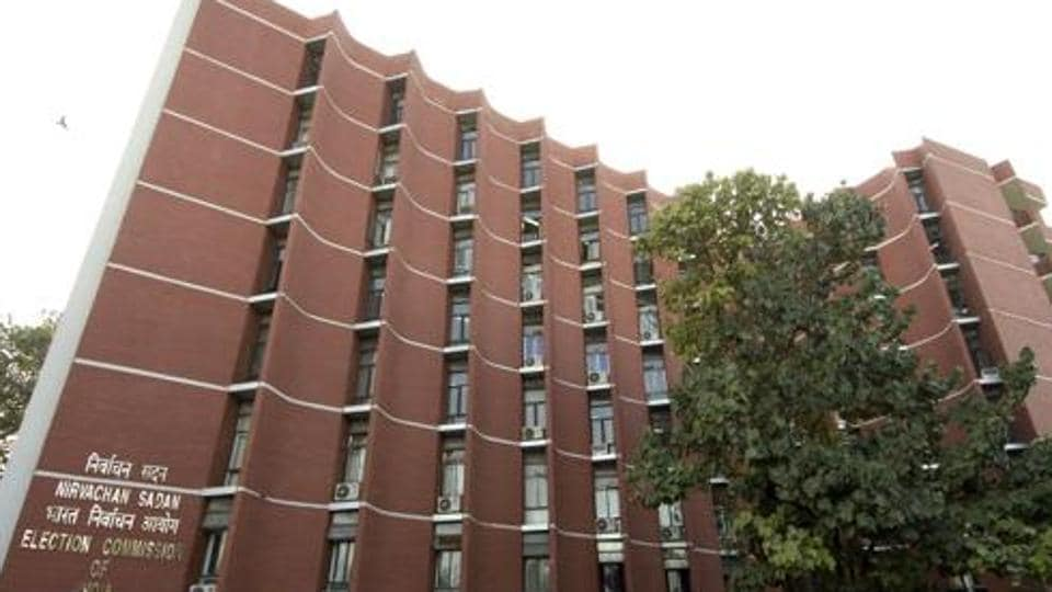 Election commission of India building in New Delhi.