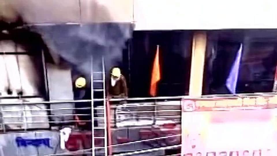 Gondia fire,Fire in Gondia,Fire in a hotel